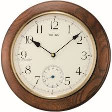 Wooden Wall Clock Seiko Clocks Wooden Wall Qxa432b Watch Shop Com