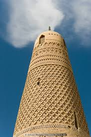 minaret detail with ornamental brickwork picture emin minaret and