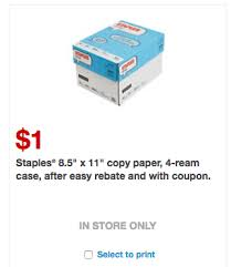staples black friday coupon new staples coupons free paper shredding 1 case of paper