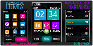 themes for nokia c2 touch and type nokia lumia theme for asha 303 300 x3 02 and touch type