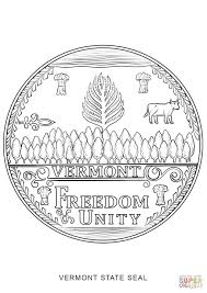 vermont state seal coloring page free printable coloring pages