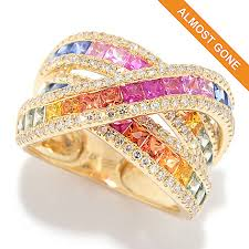 color sapphire rings images Effy quot watercolors quot 14k gold 3 78ctw diamond multi color sapphire