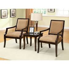 Chair Sets For Living Room Shop Furniture Of America 3 Boudry Espresso Living Room Set