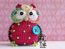 crochet owl hanger pendant ornament crochet pattern diy
