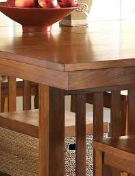 mission dining room table mission dining room set rectangular gathering height dining table in