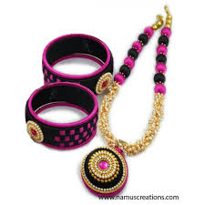 pink coloured beads necklace images Silk thread necklace jpg