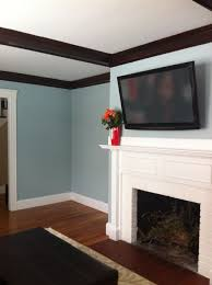 living room in benjamin moore yarmouth blue paint for the home