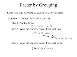 11 factor by grouping some four term polynomials
