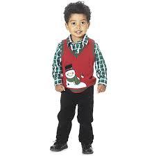 baby boy 12 24m boys rock snowman sweater vest set boscov s