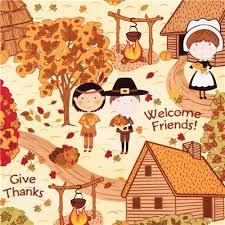 children autumn fabric thanksgiving quilting treasures