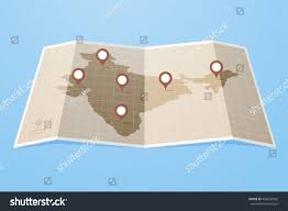 Gps Map Map India Gps Map Pointers Pins Stock Vector 492635926 Shutterstock
