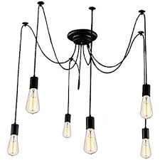 lixada 6 arms each with 1 7m wire antique classic edison lamp