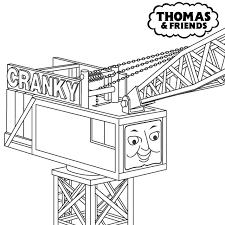 thomas train coloring pages thomas the train cranky coloring pages cartoon coloring pages of