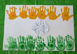 The Flag Of India Handprint India Flag Putti U0027s World Kids Activities