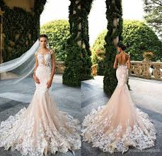 designer wedding dresses milla 2017 designer mermaid wedding dresses illusion neck