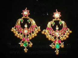 peacock design earrings 112 best indian earings images on indian jewelry gold
