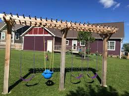 Backyard Swing Set Ideas by Best 25 Pergola Swing Ideas On Pinterest Patio Swing Pergola