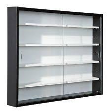 glass cabinet glass modern display cabinets ebay