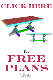 Free Plans For Outdoor Picnic Tables by Restoration Hardware Inspired Dining Table For 110 Shanty 2 Chic