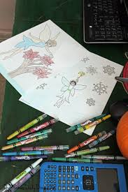 printable christmas fairy coloring pages