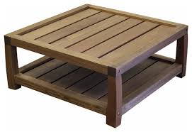 timbo vila rica hardwood outdoor patio square coffee table