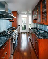 granite countertop backsplash kitchen contemporary with black