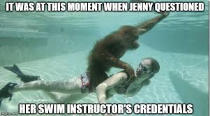 Swimming Memes Funny - swimming lessons imgflip
