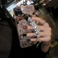 bracelet luxury crystal images Luxury crystal diamond flower bracelet iphone 7 8 plus 6 6s plus jpg