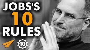 steve jobs u0027s top 10 rules for success youtube