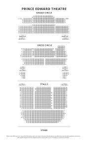 Theatre Floor Plans Prince Edward Theatre Seating Plan Londontheatre Co Uk