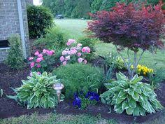 Landscape Design For Front Yard - flower bed designs for front of house use shrubs small trees to