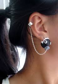 badass earrings chain chomp crafts