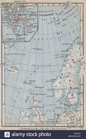 map northern europe scandinavia northern europe sea arctic spitsbergen stock