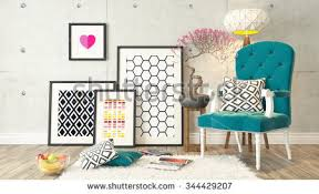 bergere home interiors picture frames blue bergere concrete wall stock illustration