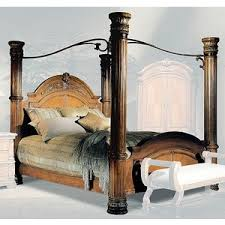 furniture com bellagio bedroom queen canopy bed polyvore