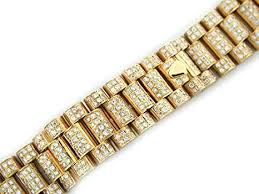 rolex bracelet diamonds images Mens 18ky president all diamond watch band for rolex jpg