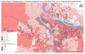 map of oregon freeways asthma regional equity atlas