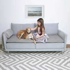 wool sofa topper in classic grey the lounging hound
