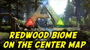 Biome Map Ark Survival Evolved Redwood Biome On The Center Map Gameplay