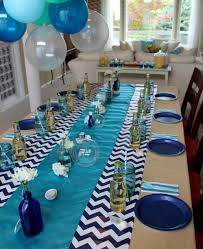 Baby Shower Table Centerpieces by My Baby Shower Love The Blue Table Decor For A Large Party