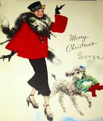 99 christmas poodles images retro christmas
