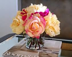 Fake Flower Arrangements Flower Arrangements Etsy