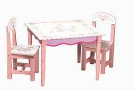 tea party table and chairs furniture kids room square white laminate top table with pink wooden