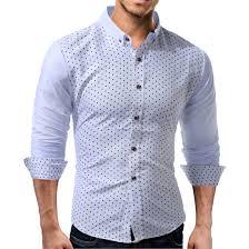 bureau d ot polka dot imprimé marque chemises hommes manches longues single