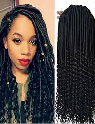 crochet braid hair 18 inch curly faux locs crochet hair wavy crochet braids
