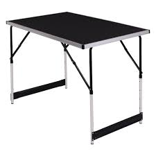 Folding Table by 3 Pcs Height Adjustable Folding Indoor Outdoor Table Folding