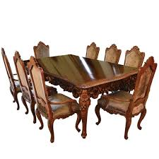 Italian Dining Tables And Chairs Antique Italian Dining Room Set With Table Chairs Buffet