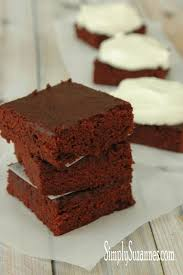 simply suzanne u0027s at home red velvet brownies with cream cheese