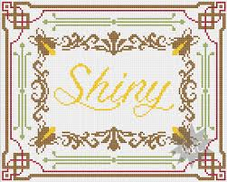 firefly shiny traditional style counted cross stitch sler