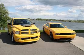 yellow fever ram srt 10 vs yellow jacket challenger srt 8 cars